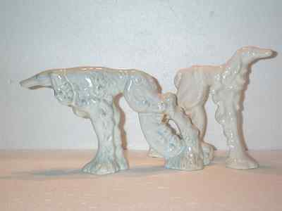2 RUSSIAN WOLFHOUND BORZOI Pottery Dogs *GREAT RaRe VINTAGE Pair * Royal Haeger