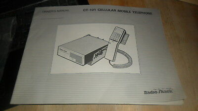 Radio Shack Ct-101 Cellular Mobile Telephone Owners Manual