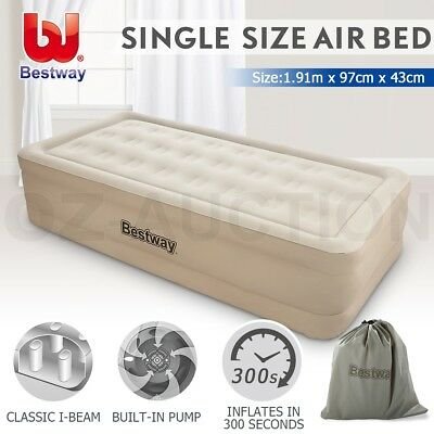 Bestway Air Bed Inflatable Single Blow Up Mattress Mat Pump Home Outdoor Camping