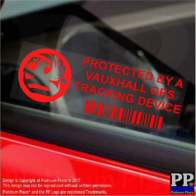 5 x RED-Vauxhall GPS Tracking Device-Stickers-Vehicle,Security,Corsa,Combo,Van