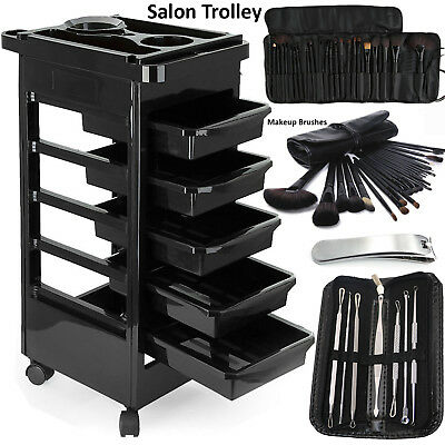 Beauty Salon Hairdresser Trolley Barber Hair Drawers Storage Spa Cart Colouring