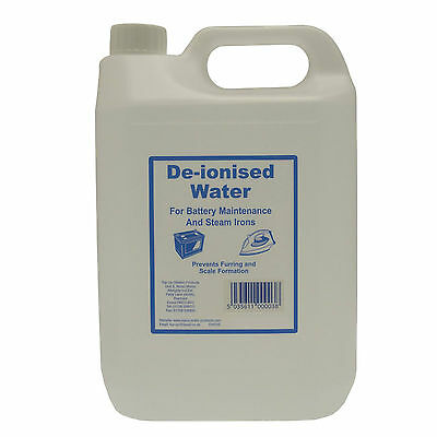 Top Up Water De Ionised Water Deionised & Distilled - Choose Size