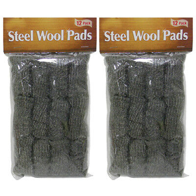 24 Pc Stainless Steel Wool Pads Kitchen Bathroom Wire Cleaning Ball Pan Cleaner