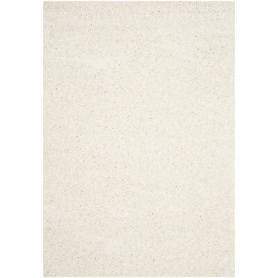 Safavieh Athens Shag Collection  5 x 7 Foot Indoor Carpet Mat Area Rug, White