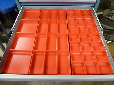 "37pc 1"" Plastic Box assortment: fits Lista Vidmar Waterloo Craftsman Toolboxs"