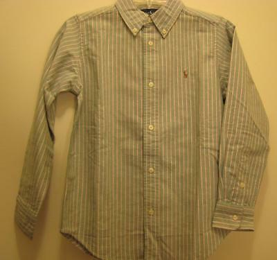 New  Ralph Lauren Boys Shirt Top 2 2 T NWT Oxford Long Sleeve