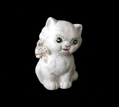 Antique Cast Iron Hubley Hand Painted Bank Kitten Kitty Cat