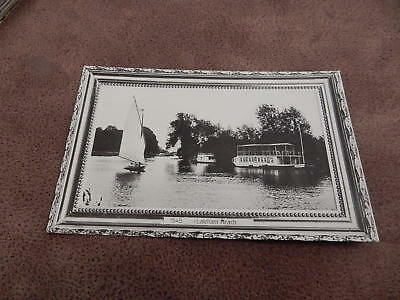 Early real photo Shenley postcard -Laleham Reach- River Thames  Staines - Surrey