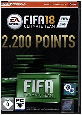 Fifa 18 Ultimate Team 2200 Points, Code in a Box