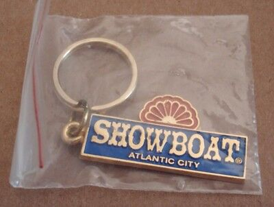 SHOWBOAT CASINO Atlantic City, NJ Key Ring chain bob fob keyring keyfob UNUSED