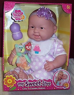 "Berenguer 2 Teeth 20"" Lots To Cuddle Babies Brown Eyes 2014 Baby Doll NEW"