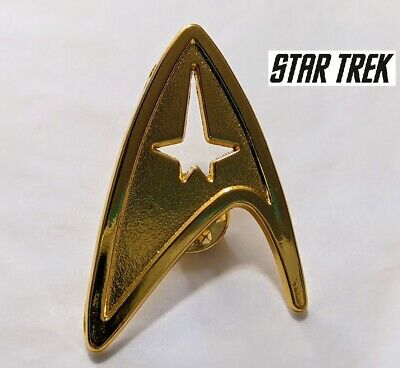 GL2 Star Trek Logo Metal Pin brooch Gold color Collectible gift decor cosplay