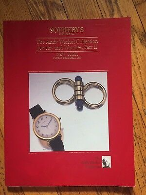 Sotheby's Catalog - Andy Warhol Collection: Jewelry & Watches, Pt. Ii - 12/88