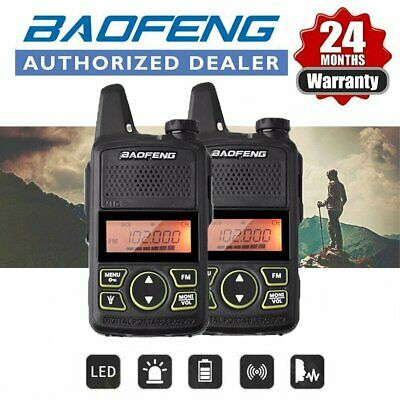 2x Baofeng BF-T1 Mini UHF  2 Way Long Range Walkie Talkie Radio set + Earpiece