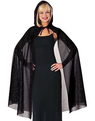 Adult 45 Inch Hooded Glitter Cape