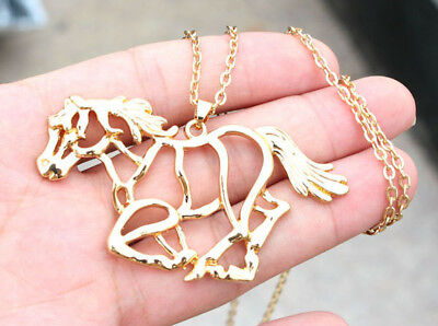 Horse & Western Jewellery Jewelry Ladies Silhouette Horse Pendant Necklace Gold