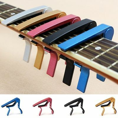 Replacement Fast Release Quick Change Guitar Capo Aluminium Alloy Key Clamp
