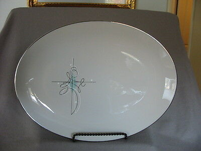 "Franciscan Encore Large Oval Platter 16"" - Gladding Mcbean Mid-Century"