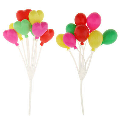 Dolls House Miniatures 1:12 Scale Balloons Room Decor Accessory 2pcs