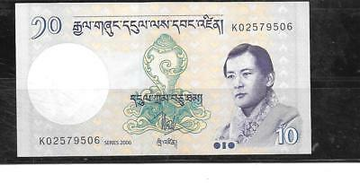 BHUTAN #29a 2006 UNC  10 NGULTRUM OLD BANKNOTE PAPER MONEY CURRENCY BILL NOTE