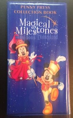 Used Magical Milestones Pressed Coin Book Disney Disneyland Elongated Penny