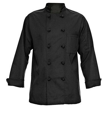 350 Chef Apparel 10 Knot Button Chef Coat Small | Easy-Care Twill NWT