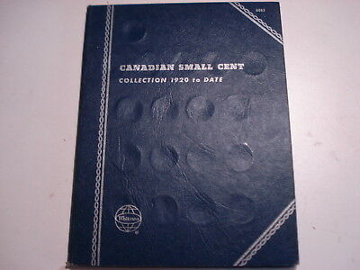 Canada Small Cent Whitman Coin Book 1937-1972 W/40 Coins Some 'bu' L@@k