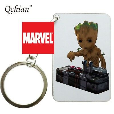 Guardians of the Galaxy Movie Baby GROOT Square comic book style Keychain USA