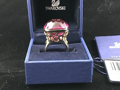 Auth Swarovski Night Time Ring 1076328 Gorgeous Red Crystal Size 55 (7)