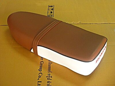 Honda C70 C90 Brown-White Seat   #bi565#