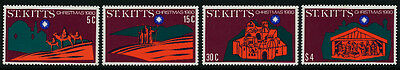 St Kitts 45-8 MNH Christmas, Architecture