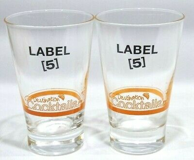 LABEL 5 Whisky 2 verres Cocktails haut  NEUF