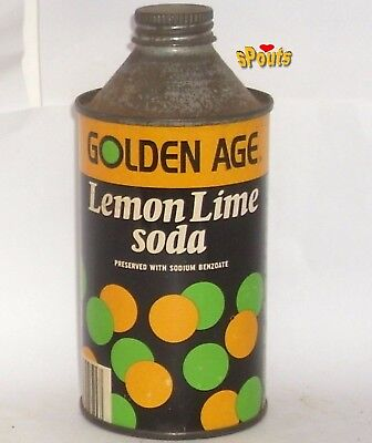1973 Golden Age Lemon-Lime Soda Can Novelty Cone Top Twist Cap Akron,oh.ohio