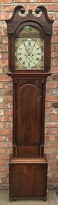 Antique 8 Day Mahogany Longcase Grandfather Clock ALEXANDER MILNE ABERDEEN