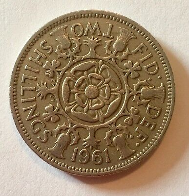 VINTAGE QEII FLORIN TWO SHILLING COIN-YOUR CHOICE OF DATE 1953-67 - great gift!