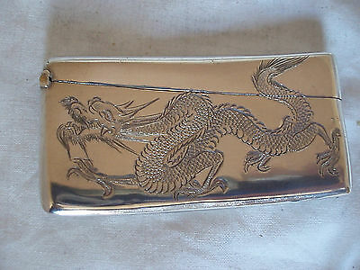 Chinese Sterling Silver Card Case Circa 1890