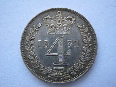 1831 Maundy Fourpence A UNC but cleaned