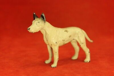 Antique Vintage Cast Metal Terrier or Canaan Paperweight - All Original