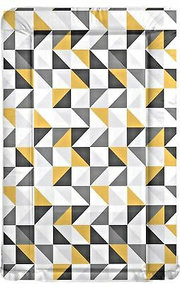 Grey & Yellow geometric design baby changing mat ideal baby shower gift FOF