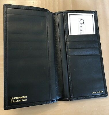 CHRISTIAN DIOR MENS Wallet black new Leather reg:$350 Spain,authentic
