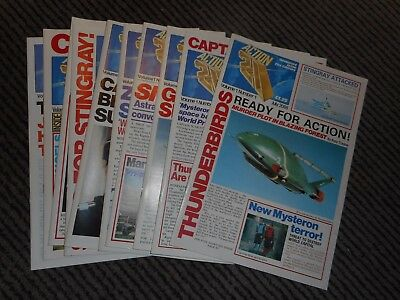 ACTION 21 ~ THUNDERBIRDS MAGAZINE 2088/2089   VOL 1 Nos 1 -10 FULL SET OF 10