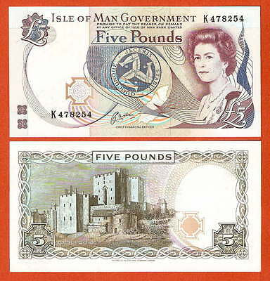 P41b   Isle of MAN   5 Pound 1991  UNC