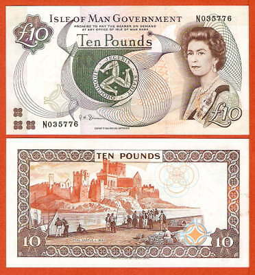 P44b   Isle of MAN   10 Pound  2002  UNC
