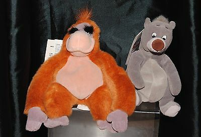Disney Store The Jungle Book 2 Mini Bean Bag Soft Toys Baloo & King Louie