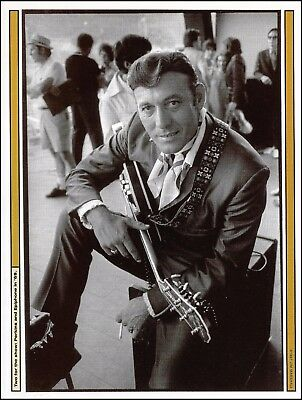 Carl Perkins with his 63' Epiphone Emperor Thinline electric guitar 8 x 11 pinup