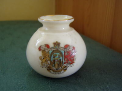 Saffron Walden Essex Chester Vase - Foley Crested China