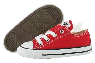 Converse All Star Chuck Taylor OX Red 7J236 Canvas Shoes Medium Infant Toddler