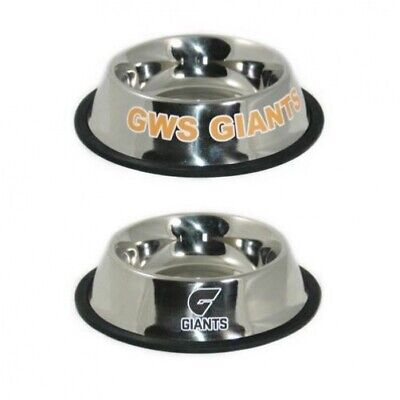 Gws Giants AFL Stainless Steel Dog Bowl