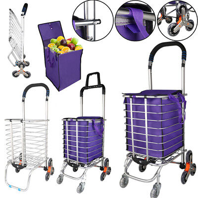 Urban Stair Climbing Cart 6/8 Wheels Folding Grocery Laundry Shopping Handcart