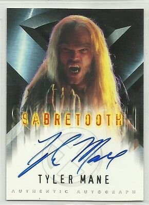 """x-men Chase Card with Genuine Autograph,Signed by Tyler Mane """"Sabretooth"""""""